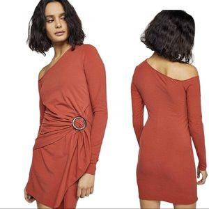 Free People Bodycon Mini long sleeve dress Large